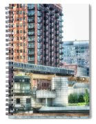 Chicago Cta Lake Street El In June Spiral Notebook