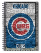 Chicago Cubs Brick Wall Spiral Notebook