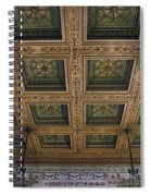Chicago Cultural Center Staircase Ceiling Spiral Notebook