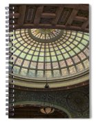 Chicago Cultural Center Tiffany Dome 01 Spiral Notebook
