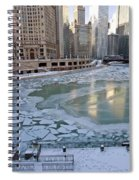 Chicago Downtown City  Night Photography Wrigley Square Spiral Notebook