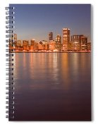 Chicago Dusk Skyline Panoramic  Spiral Notebook
