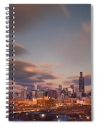 Chicago Dusk Spiral Notebook