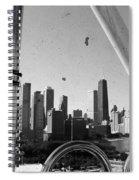 Chicago Ferris Wheel Skyline Spiral Notebook