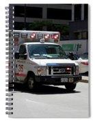 Chicago Fire Department Ems Ambulance 35 Spiral Notebook