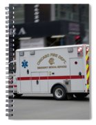 Chicago Fire Department Ems Ambulance 53 Spiral Notebook