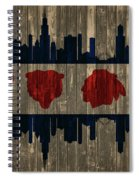 Chicago Flag Barn Door Spiral Notebook