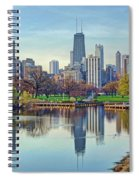 Chicago From Lincoln Park Spiral Notebook