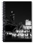 Chicago Grant Park Grayscale Spiral Notebook