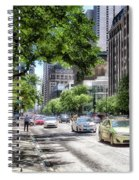 Chicago Hailing A Cab In June Spiral Notebook