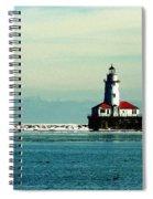 Chicago Harbor Light Spiral Notebook