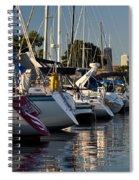 Chicago Harbor Scene Spiral Notebook