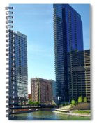 Chicago Heading Up The North River Branch Spiral Notebook