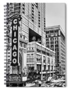 Chicago In Black And White Spiral Notebook
