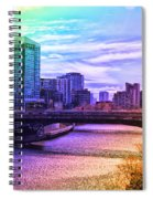 Chicago In November Chicago River South Branch Pa Rainbow 02 Spiral Notebook