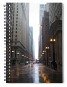 Chicago In The Rain 2 Spiral Notebook