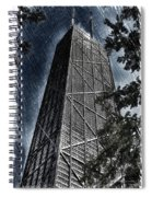 Chicago John Hancock In June Pa 01 Spiral Notebook