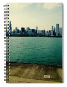 Chicago Lake Michigan Skyline Spiral Notebook