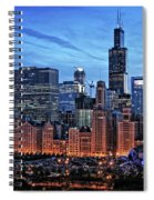 Chicago At Night Spiral Notebook