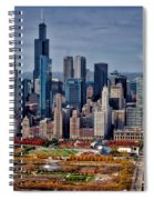 Chicago Looking West 02 Spiral Notebook