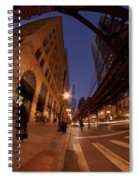 Chicago Loop At Dusk Spiral Notebook