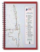 Chicago Marathon Race Day Route Map 2014 Spiral Notebook
