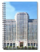Chicago Merchandise Mart South Facade Spiral Notebook