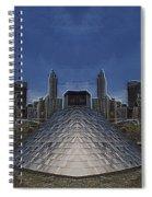 Chicago Millennium Park Bp Bridge Mirror Image Spiral Notebook