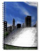 Chicago Millennium Park Bp Bridge Pa 01 Spiral Notebook