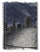 Chicago Millennium Park Bp Bridge Pa 02 Spiral Notebook