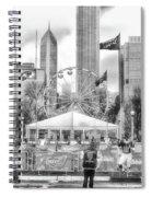 Chicago Nfl Draft Town 2016 Bw Spiral Notebook