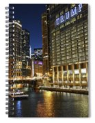 Chicago Night Lights Spiral Notebook