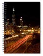 Chicago Night Skyline Spiral Notebook