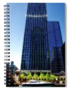 Chicago Parked On The River By 320 River Bar Spiral Notebook