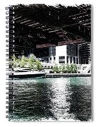 Chicago Parked On The River In June 03 Pa 01 Spiral Notebook