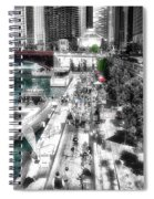 Chicago Parked On The River Walk 03 Sc Spiral Notebook