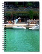 Chicago Parked On The River Walk Panorama 01 Spiral Notebook