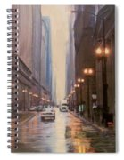 Chicago Rainy Street Spiral Notebook