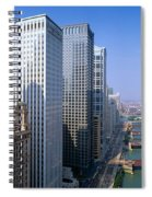 Chicago River, Aerial Shot, Illinois Spiral Notebook