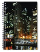 Chicago River Crossing Spiral Notebook