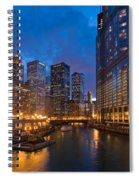 Chicago River Lights Spiral Notebook