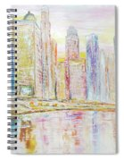 Chicago River Skyline Spiral Notebook