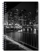 Chicago River View In Black And White  Spiral Notebook