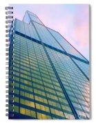 Chicago Sears Willis Tower Pop Art Spiral Notebook