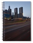 Chicago Skyline And Expressway Spiral Notebook