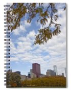 Chicago Skyline And Fall Colors Spiral Notebook