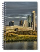 Chicago Skyline And Nature Preserve At Sunrise Spiral Notebook