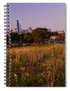 Chicago Skyline And Neighborhood Prairie Spiral Notebook