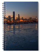 Chicago Skyline At Dusk Spiral Notebook