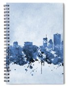 Chicago Skyline-blue 2 Spiral Notebook